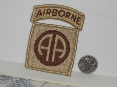 "Vtg. Post WWII Desert Cammo 82nd Airborne Division ""All American"" Shoulder Patch"