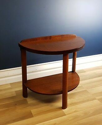 Art Deco Half Round Hall / Side Table, Restored 1940 Silky Oak, Antique