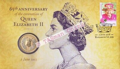 Australia 2018 65th Anniversary Coronation Queen Elizabeth 2 PNC - Perth Mint $1