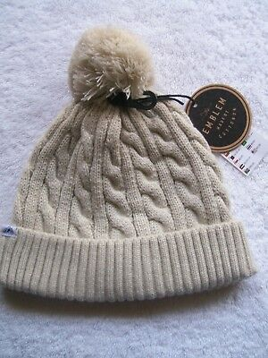 BNWT Men's/Women's Unisex Cotton On Beige Knitted Beanie/Hat
