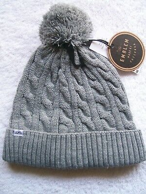 BNWT Men's/Women's Unisex Cotton On Grey Knitted Beanie/Hat