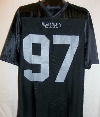 Silverton Hotel Las Vegas Black Football Jersey #97 Charity Casino Night Xlarge