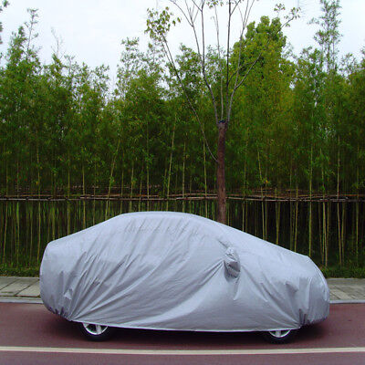 Aluminum Waterproof Double Thicker M Full Car Cover Rain Resistant UV Protection
