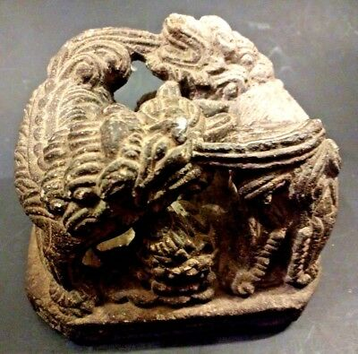 Ancient Ming Dynasty Stone Temple Carving - CHINA - Circa 15th/16 Century