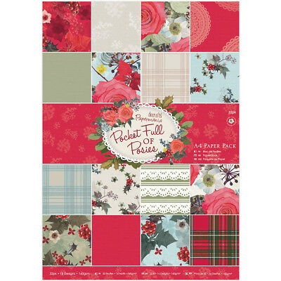 Papermania Single-Sided A4 Paper Pack 32/Pkg-Pocket Full Of Posies, 16  - 2 Pack