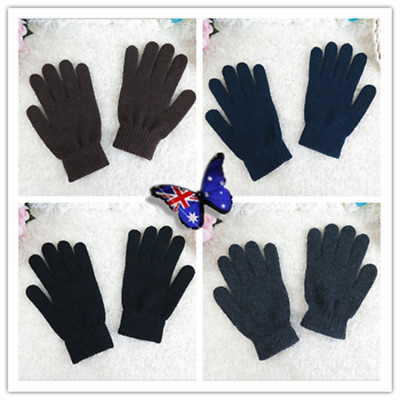 Men Women Insulated Warm Wool Gloves Thermal Warmer Winter Use Fashion Gift AU