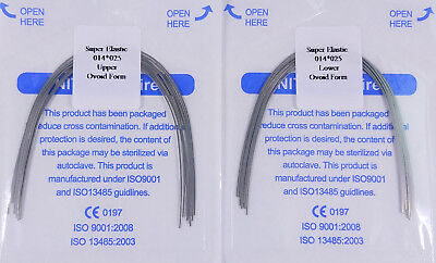 Orthodontic Arch Wires Rectangular Niti Super Elastic 14X25 U/L Dental 10Packs