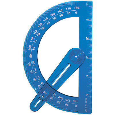 """Plastic Protractor With Swing Arm-6"""" - 3 Pack"""