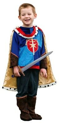 Kids Boys Medieval Fairytale Prince Charming Knight Fancy Dress Book Day Costume