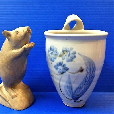 Gellibrand Studio Pottery, Vic -  Wall Pocket Vase - 13.5cm  -Free Stand or Hang