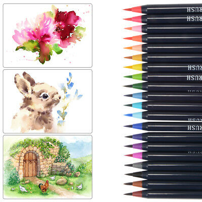 HOT 20-Color Pens Watercolor Drawing Paint Brush Artist Manga Marker Pen AC888