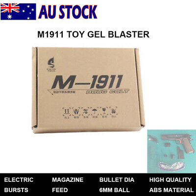 SiJun M1911 Black Gel Ball Blaster Mag-fed Water Crystal Bullet Toy - AU STOCK