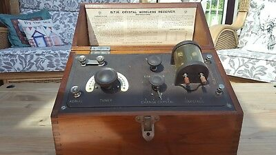 1920s BTH Twin Crystal Radio Set Type C Form A In Nice Original Condition