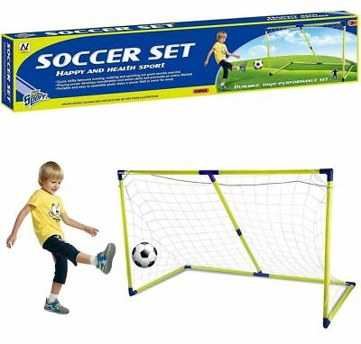 Kids 154 cm 5ft Football Soccer Goal Net Post And Ball Indoor Outdoor Sports To