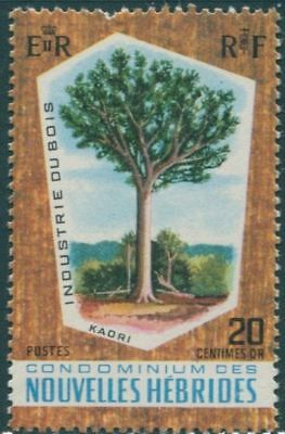 New Hebrides French 1969 SGF150 20c Timber Industry MLH