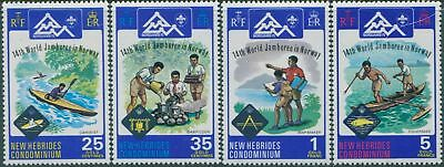 New Hebrides 1975 SG200-203 Scout Jamboree set MLH