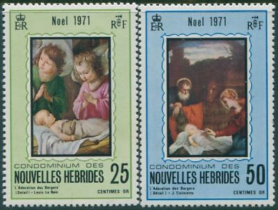 New Hebrides French 1971 SGF167-F168 Christmas set MLH