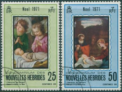 New Hebrides 1971 SG152-153 Christmas set FU