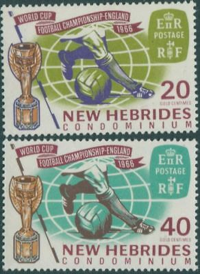 New Hebrides 1966 SG118-119 World Cup Football set MLH