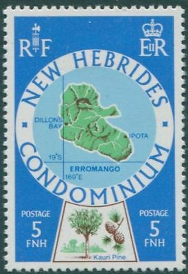 New Hebrides 1977 SG242 5f Map MLH
