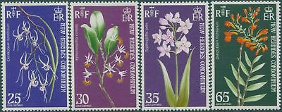 New Hebrides 1973 SG174-177 Orchids set MLH