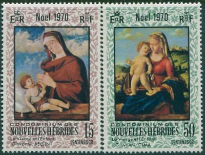 New Hebrides French 1970 SGF160-F161 Christmas set MLH