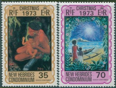 New Hebrides 1973 SG182-183 Christmas set MLH