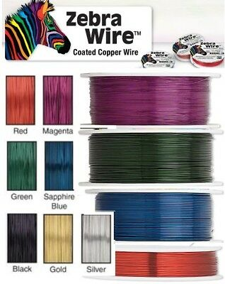 Zebra Artistic Wire Bead Wrapping Jewellery Craft 18 20 22 24 26 28 30 Gauge