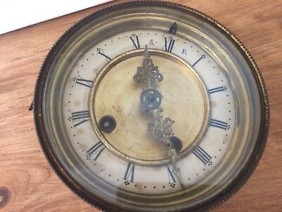 Vintage French Clock Movement / Face Bezzel And Glass