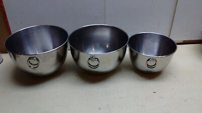 Revere Ware Stainless Prep Mixing Storage Bowls Multi Lot