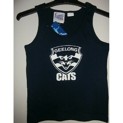 Geelong Cats Official AFL Boys Cotton Underwear Singlet FREE POSTAGE