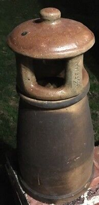 Vintage Terracotta Chimney Pot, Hoffman Potteries, Melbourne, Historic Antique