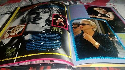 MADONNA the virgin tour 1985 book & wtg 1987 very rare + postcard + dvd bootleg