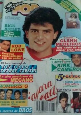 rare mag Europe Glen medeiros mecano michael j fox tom cruise bros posters NO CD