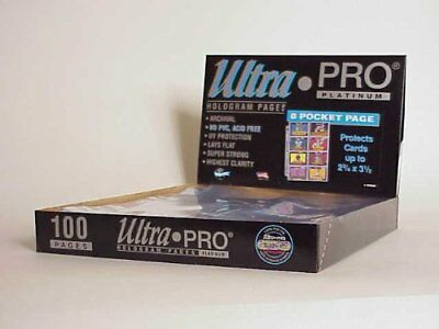 100 Ultra Pro 8-Pocket Platinum Pages 2,75 x 3,5 - Vintage Cards Ordnerseiten