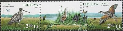 Fauna Birds stamps, 2007, Lithuania, 2 stamp set, mint, never hinged