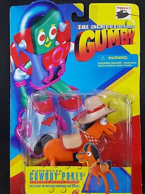The Incredible Adventures of Gumby Cowboy Pokey Figure by Trendmasters NIB