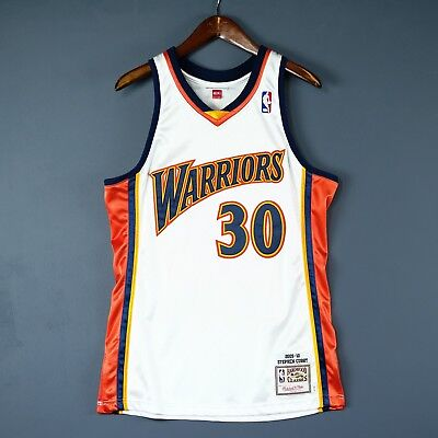 super popular 2c090 3c0b1 100% AUTHENTIC STEPHEN Curry Mitchell Ness Warriors Home Jersey Size Mens M  40