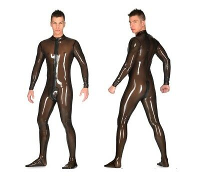 MALE SMOKY TRANSP. Libidex Latex NEO Catsuit Gr.M m. füßlingen w.demask simon o