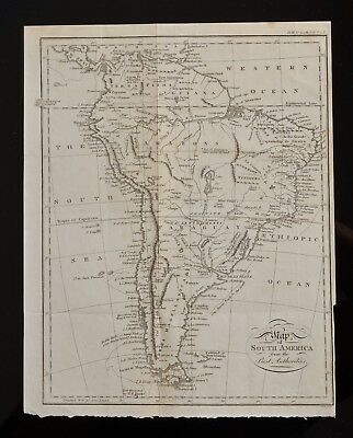 Antique 1760 Map of SOUTH America from Best Authorities, A voyage to S. America