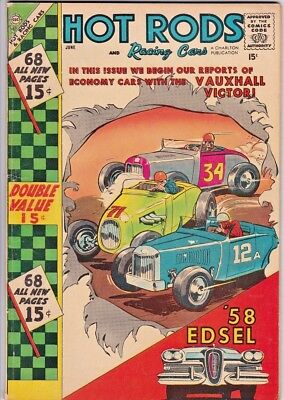 HOT RODS and RACING CARS # 35 CHARLTON - 68 pages