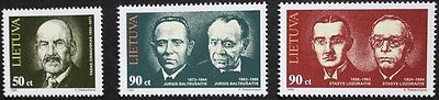 Anniversaries stamps, 1998, Lithuania, SG ref: 676-678, 3 stamp set, MNH