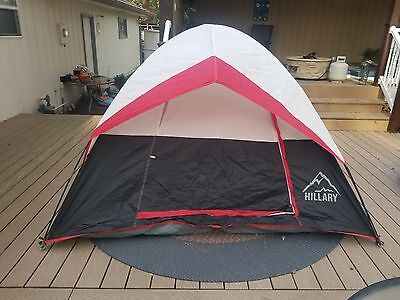 4 person 9 by 9 hillary dome tent for camping backpacking and