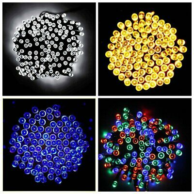Solar Power 100 200 500 LED Fairy Lights String Garden Outside Party Xmas Patio