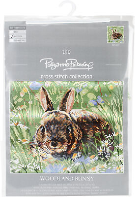 "CWOC/Pollyanna Pickering Counted Cross Stitch Kit 8""X8""-Woodland Bunny"