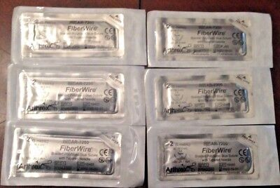 Arthrex AR-7200  FiberWire 2/5 Brand New Sealed Lot of 6 packets