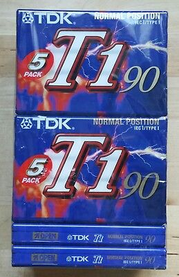12 Cassettes TDK T1 90 - Enregistrement Audio - Lot Neuf