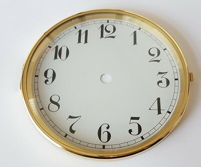 Brass Clock Bezel and Glass 147mm Arabic Dial