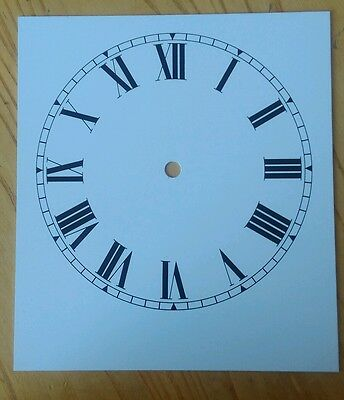 Clock Dial 178mm Roman Alum Total Diameter 203x228mm