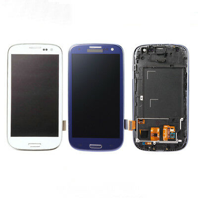 Touch Digitizer LCD Display Screen+Frame Pour Samsung Galaxy S3 Neo i9301 i9301i